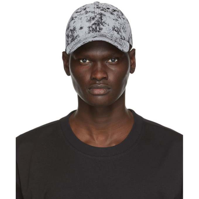 Y-3 Black and Grey Camouflage Distressed Cap  - buy with discount