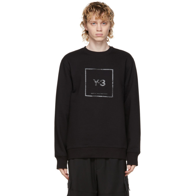 Y-3 BLACK U SQUARE SWEATSHIRT