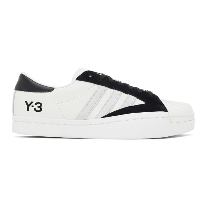 Y-3 Y-3 WHITE AND BLACK YOHJI STAR SNEAKERS