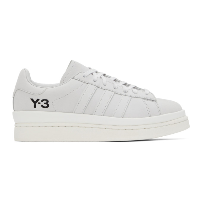Y-3 Hicho Leather & Synthetic Sneakers In Grey/white
