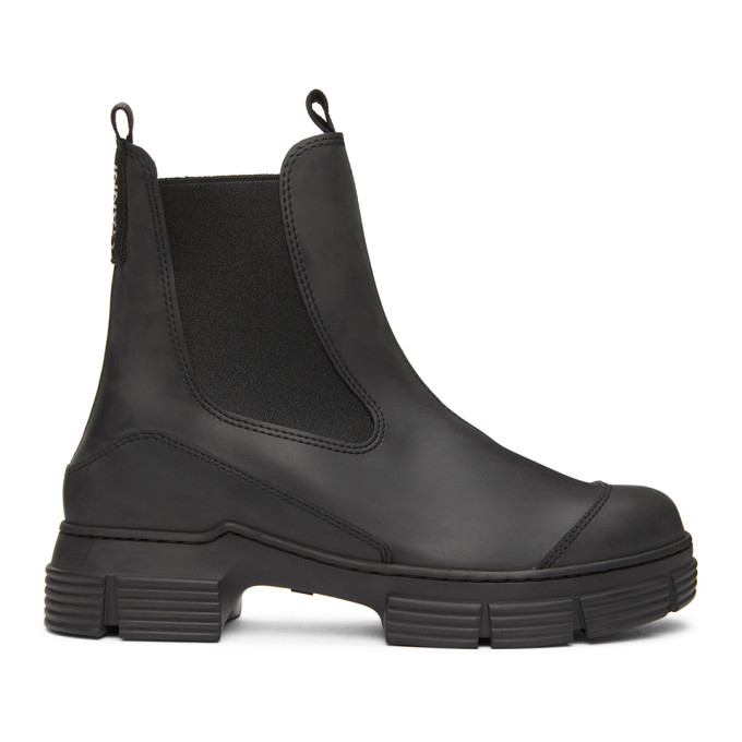 GANNI Black Recycled Rubber City Boots