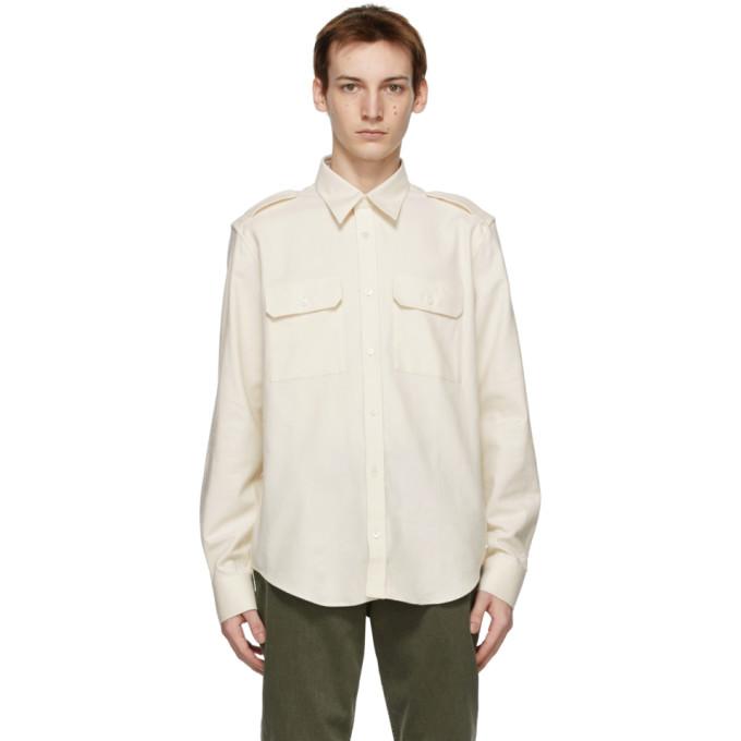 オフホワイト Strap シャツ