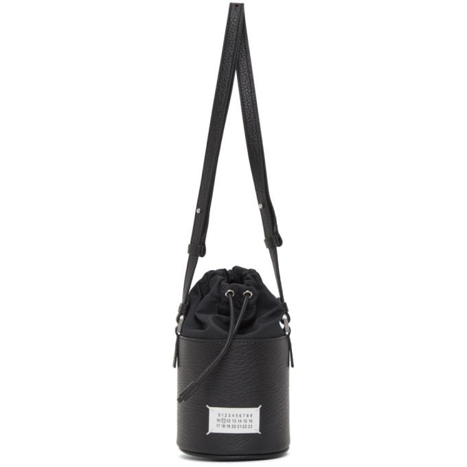 Maison Margiela ブラック マイクロ 5AC バケット バッグ