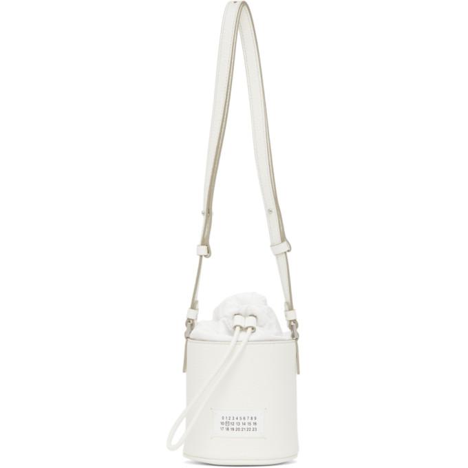 Maison Margiela ホワイト マイクロ 5AC バケット バッグ