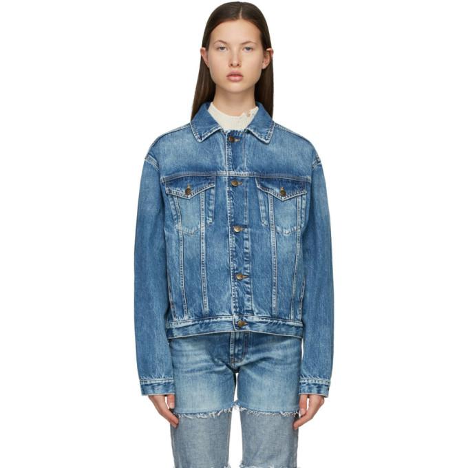 Maison Margiela Women's Oversized Recycled Denim Jacket In 961 Blu Den