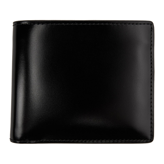 Maison Margiela Navy Bifold Wallet In Black