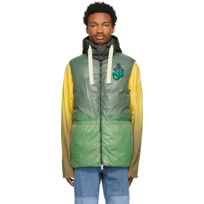 Moncler Genius MONCLER GENIUS 1 MONCLER JW ANDERSON GREEN DOWN CHESIL VEST
