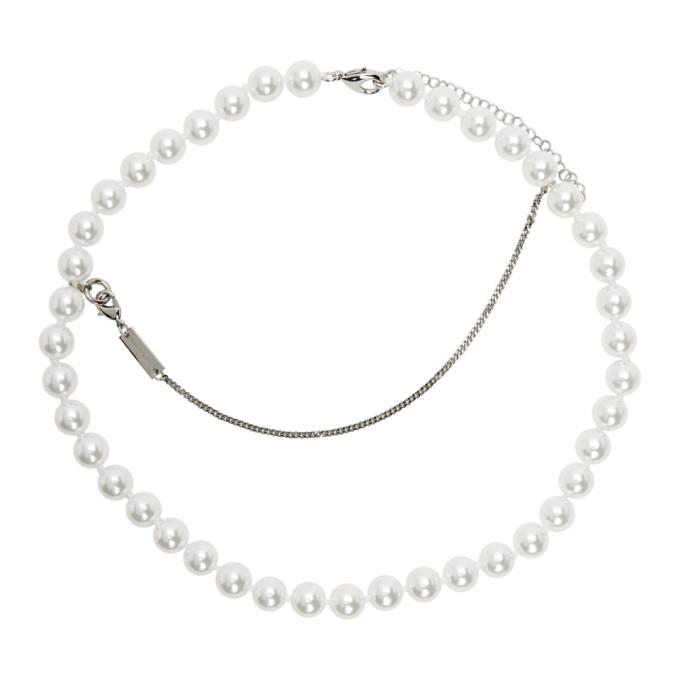 MM6 Maison Margiela 银色珍珠项链