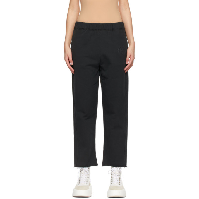Mm6 Maison Margiela MM6 MAISON MARGIELA BLACK CROP LOUNGE PANTS