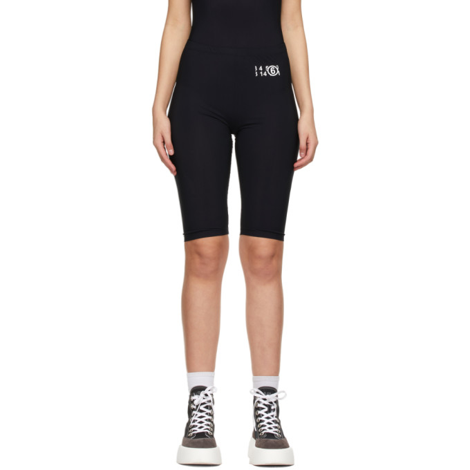 Mm6 Maison Margiela MM6 MAISON MARGIELA BLACK SMALL LOGO BIKE SHORTS