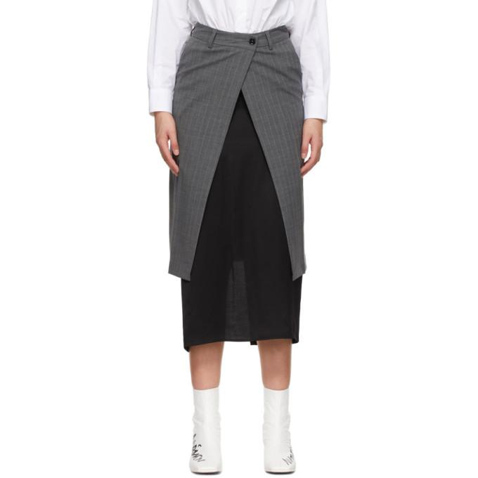 Mm6 Maison Margiela Skirts MM6 MAISON MARGIELA GREY TRANSFORMATIVE LAYER SKIRT