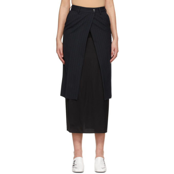 Mm6 Maison Margiela MM6 MAISON MARGIELA NAVY TRANSFORMATIVE LAYER SKIRT