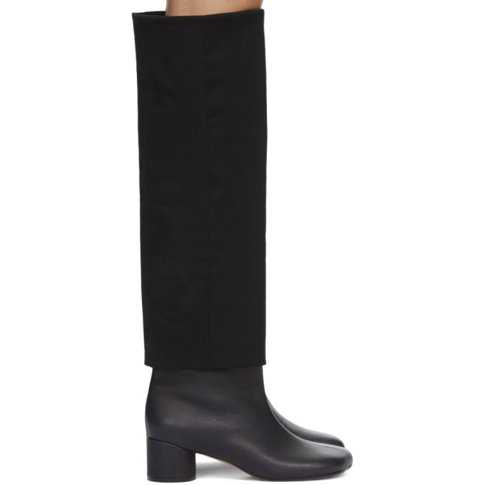 Mm6 Maison Margiela MM6 MAISON MARGIELA BLACK SUITING TOP BOOTS