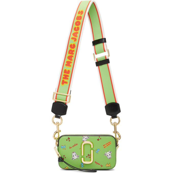 Marc Jacobs MARC JACOBS GREEN MAGDA ARCHER EDITION THE SNAPSHOT BAG