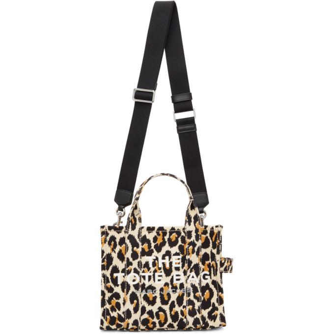 Marc Jacobs オフホワイト ミニ The Leopard Traveler トート