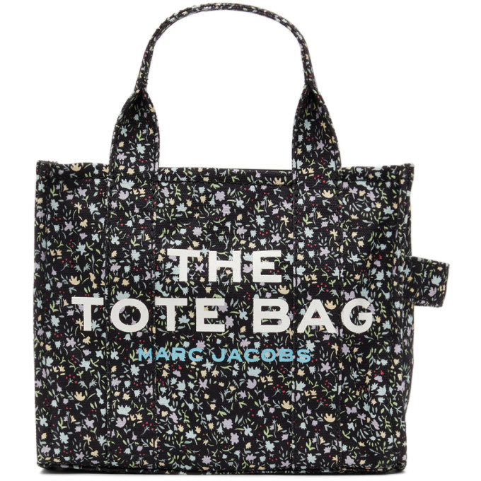Marc Jacobs MARC JACOBS BLACK THE DITZY FLORAL MINI TRAVELER TOTE