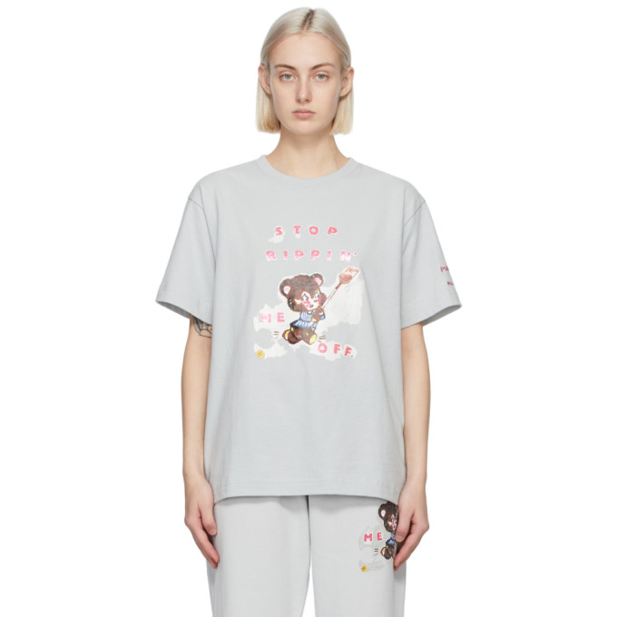 Marc Jacobs MARC JACOBS GREY MAGDA ARCHER EDITION STOP RIPPING ME OFF T-SHIRT