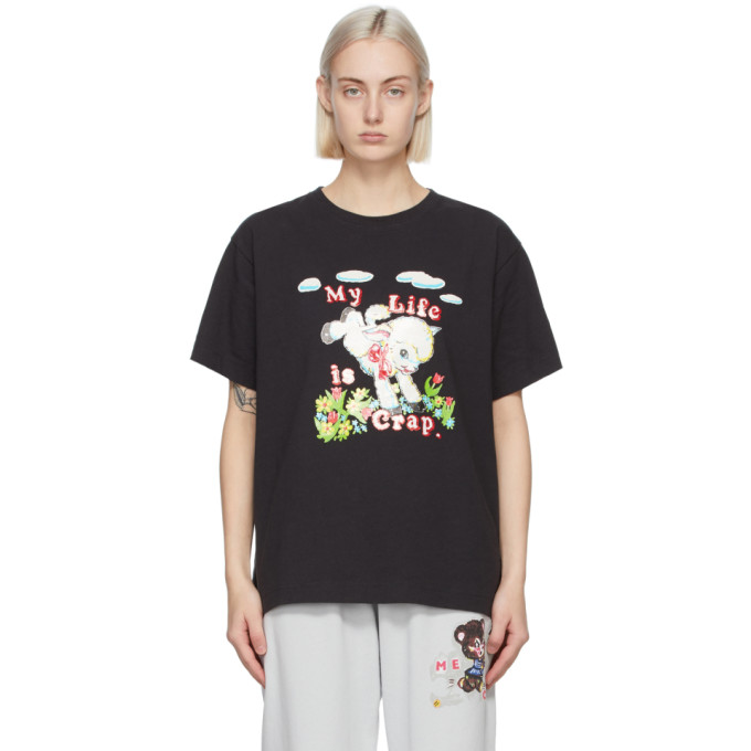 Marc Jacobs MARC JACOBS BLACK MAGDA ARCHER EDITION MY LIFE IS CRAP T-SHIRT