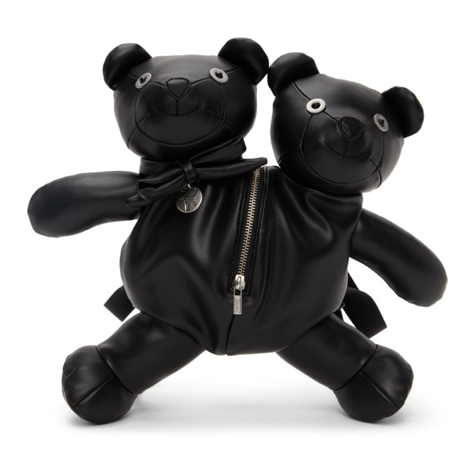 MARC JACOBS BLACK HEAVEN BY MARC JACOBS DOUBLE-HEADED TEDDY BACKPACK