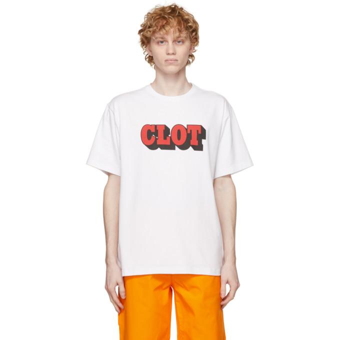 Clot Cottons CLOT WHITE LOGO T-SHIRT