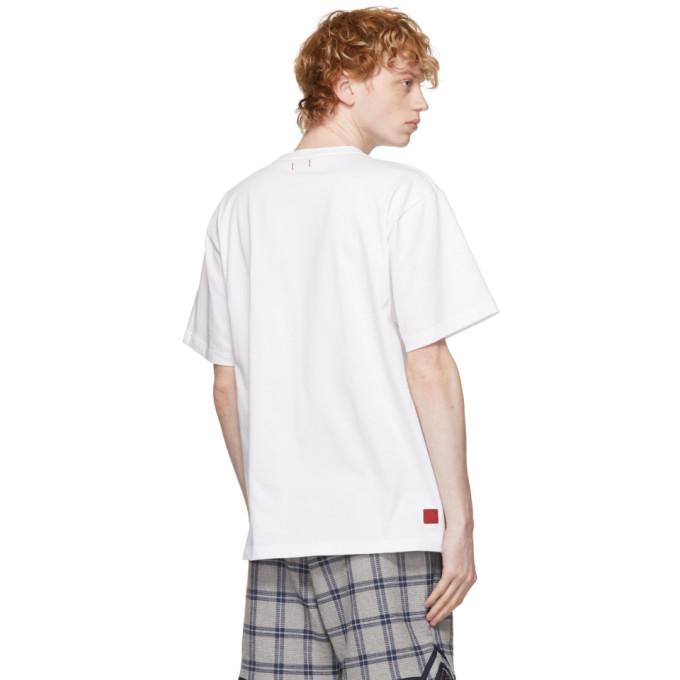 CLOT Cottons CLOT WHITE FLOWERS LOGO T-SHIRT