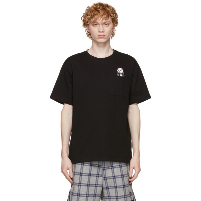 Clot CLOT BLACK PANDA POCKET T-SHIRT