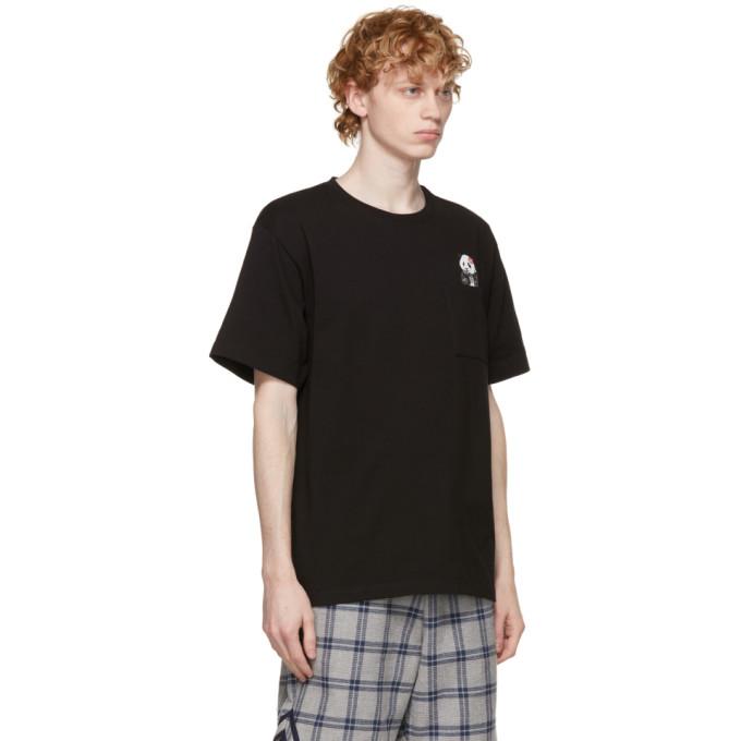 CLOT Cottons CLOT BLACK PANDA POCKET T-SHIRT