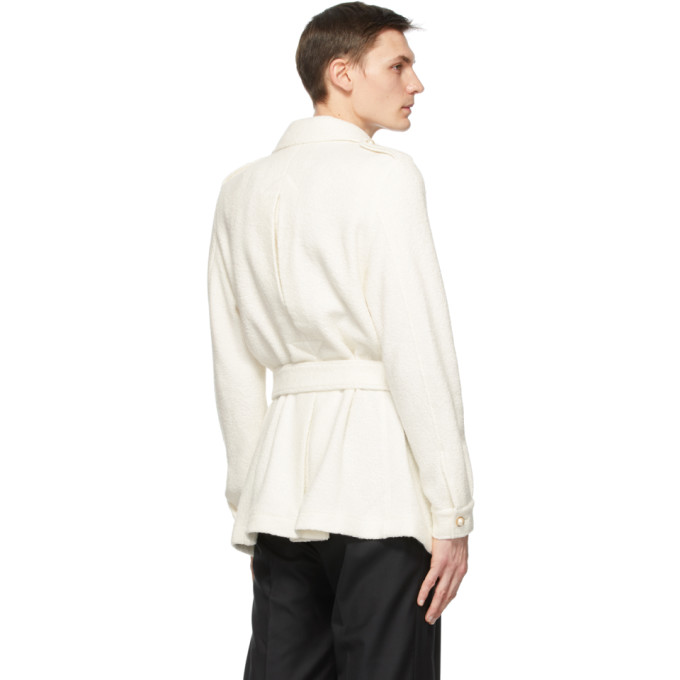 CASABLANCA Clothing CASABLANCA OFF-WHITE TERRY CLOTH SAFARI JACKET