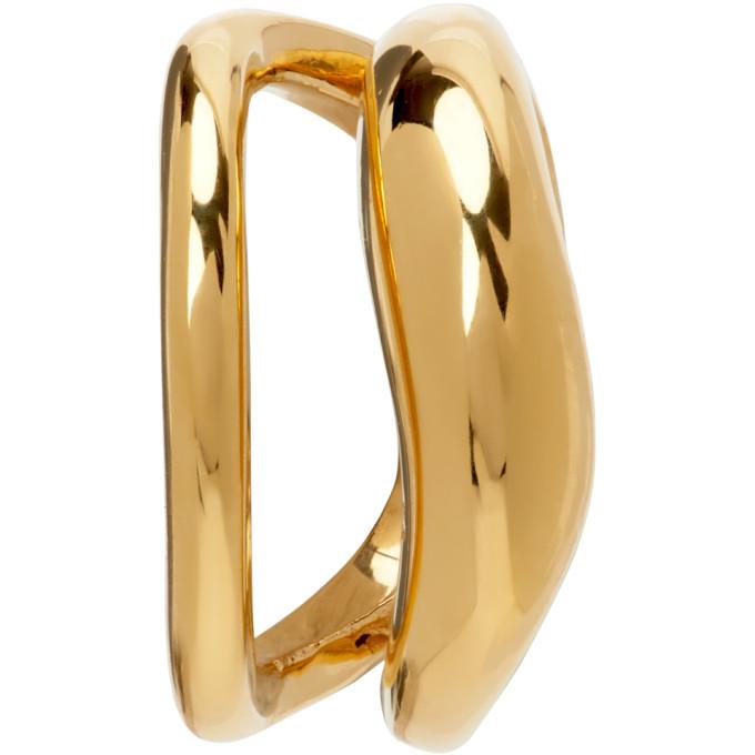 Alan Crocetti Gold Acme Single Ear Cuff In Gold Verm