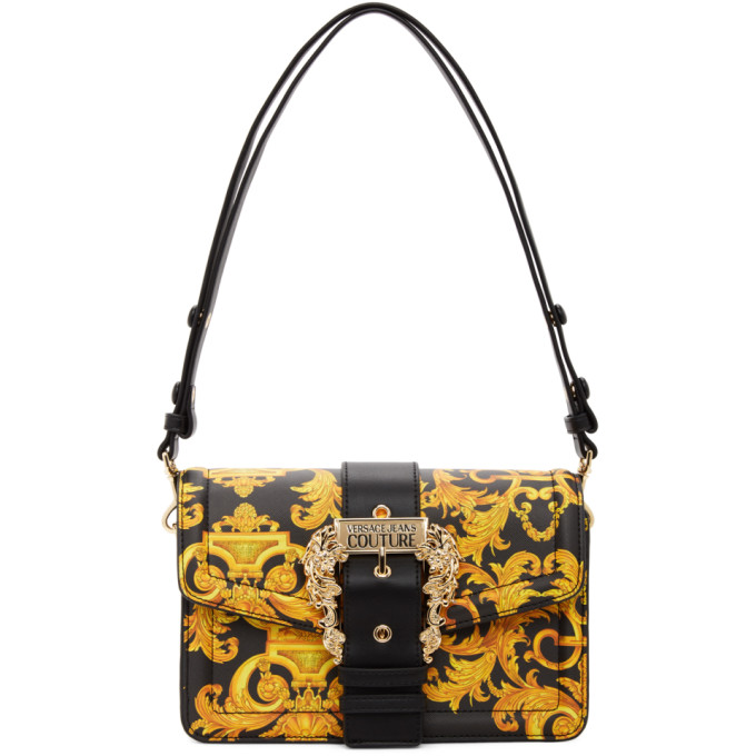 Versace Jeans Couture Bags VERSACE JEANS COUTURE BLACK BAROCCO COUTURE 1 SHOULDER BAG