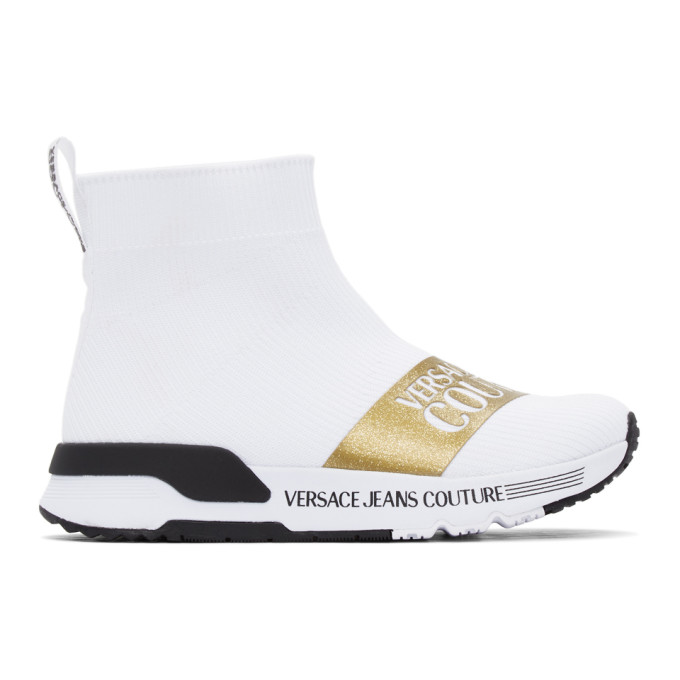 Versace Jeans Couture High tops VERSACE JEANS COUTURE WHITE DYNAMO INSTITUTIONAL LOGO SNEAKERS