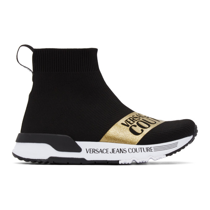Versace Jeans Couture High tops VERSACE JEANS COUTURE BLACK DYNAMO INSTITUTIONAL LOGO SNEAKERS