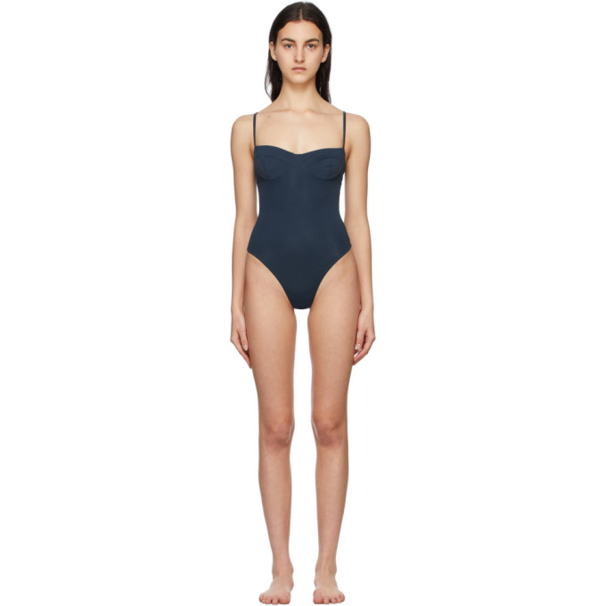 Haight HAIGHT BLUE VINTAGE ONE-PIECE SWIMSUIT