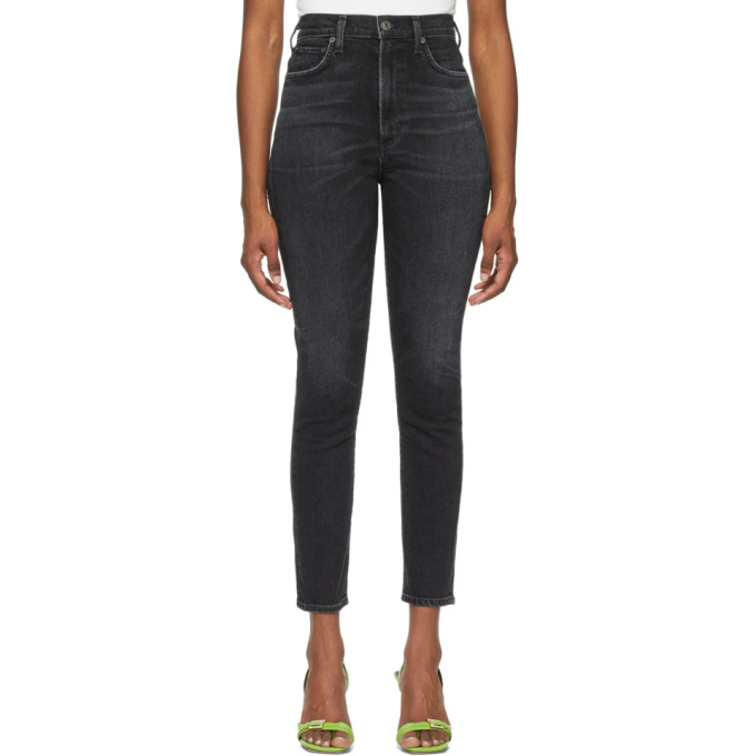 Agolde Skinny pants AGOLDE BLACK PINCH WAIST ULTRA HIGH-RISE SKINNY JEANS