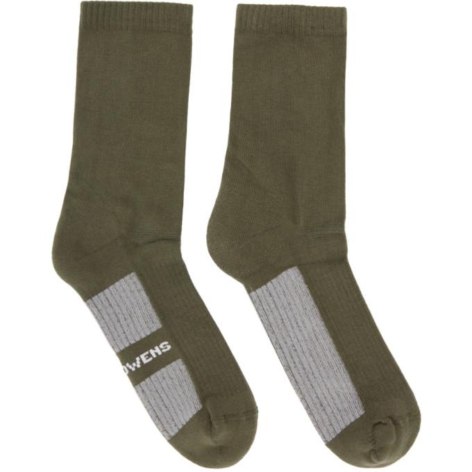 Rick Owens Taupe Logo Socks