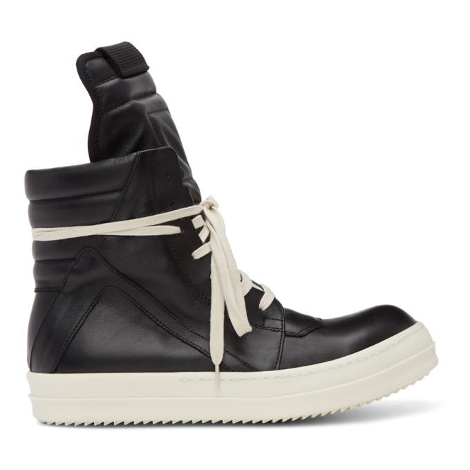 Rick Owens Sneakers RICK OWENS BLACK GEOBASKET HIGH SNEAKERS