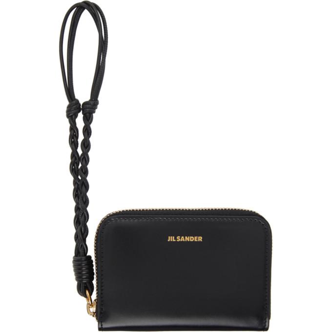 Jil Sander Black Small Zip Around Wallet In 001 Black