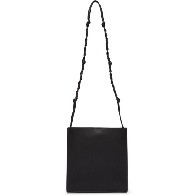 Jil Sander JIL SANDER BLACK MEDIUM TANGLE TOTE