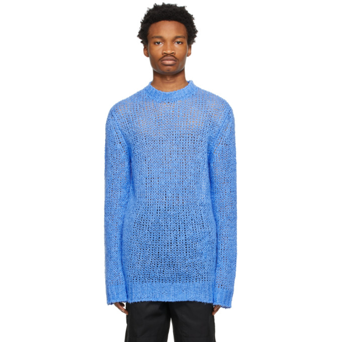 Jil Sander Relaxed-fit Knitted Jumper In 439 Bright Blue