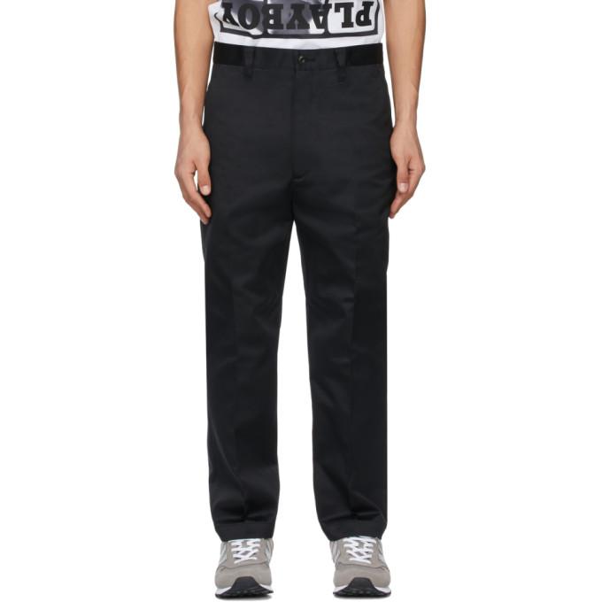 Junya Watanabe Straight Leg Trousers In 1 Black