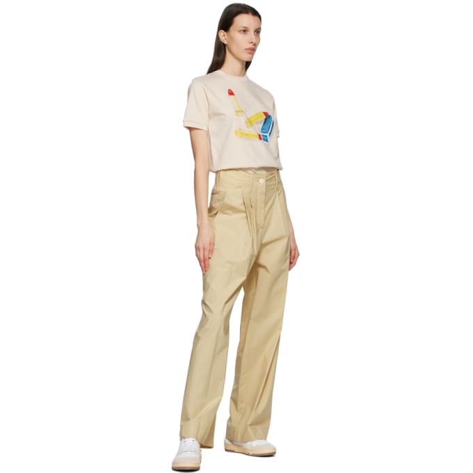 LANVIN T-shirts LANVIN OFF-WHITE SCENTED LIPSTICK T-SHIRT