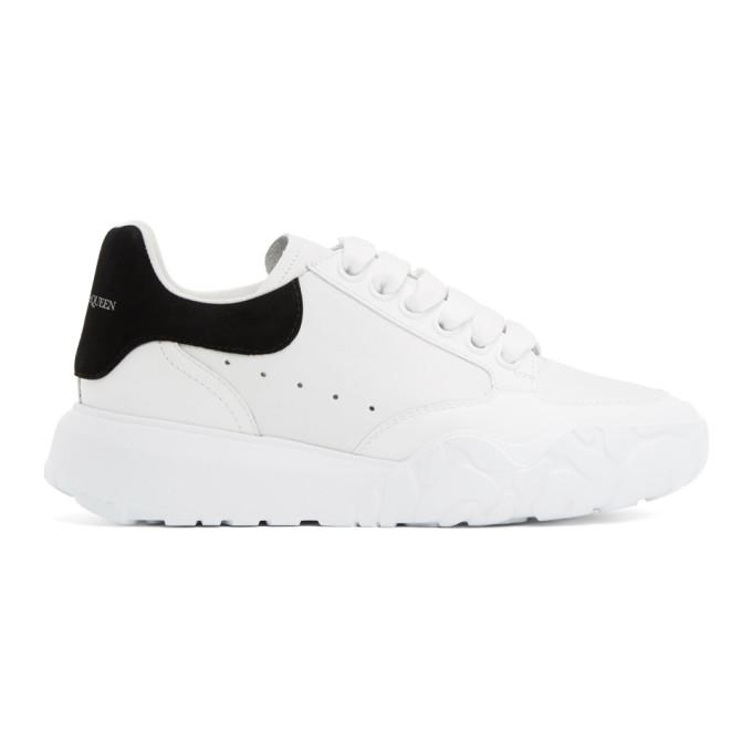 Alexander Mcqueen Sneakers ALEXANDER MCQUEEN WHITE AND BLACK RUNNER SNEAKERS
