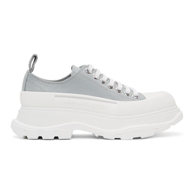 Alexander McQueen SSENSE 独家发售灰色 Tread Slick 运动鞋