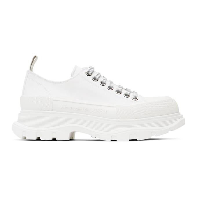 Alexander McQueen SSENSE 独家发售白色 Tread Slick 运动鞋