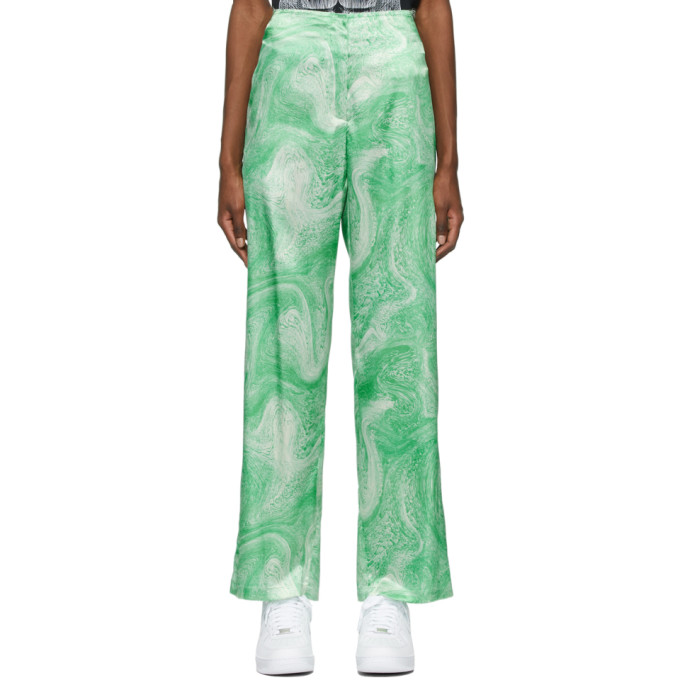 Opening Ceremony OPENING CEREMONY GREEN ALLOVER MARBLE TROUSERS