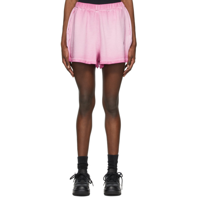 Opening Ceremony OPENING CEREMONY PINK ROSE CREST SWEAT SHORTS