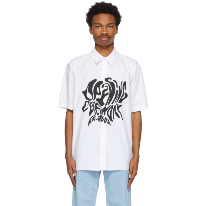 Opening Ceremony OPENING CEREMONY WHITE MELTED LOGO SHORT SLEEVE SHIRT
