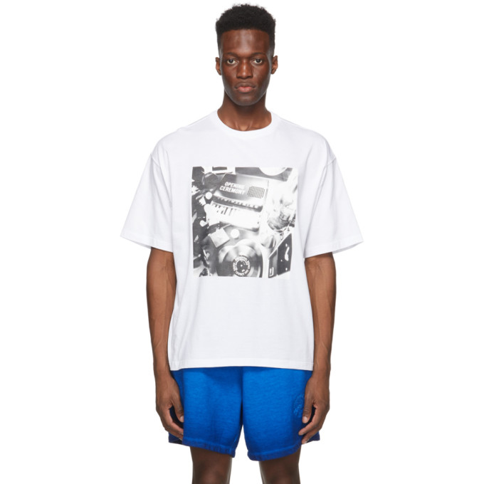 Opening Ceremony Clothing OPENING CEREMONY WHITE PIANOPRINT T-SHIRT