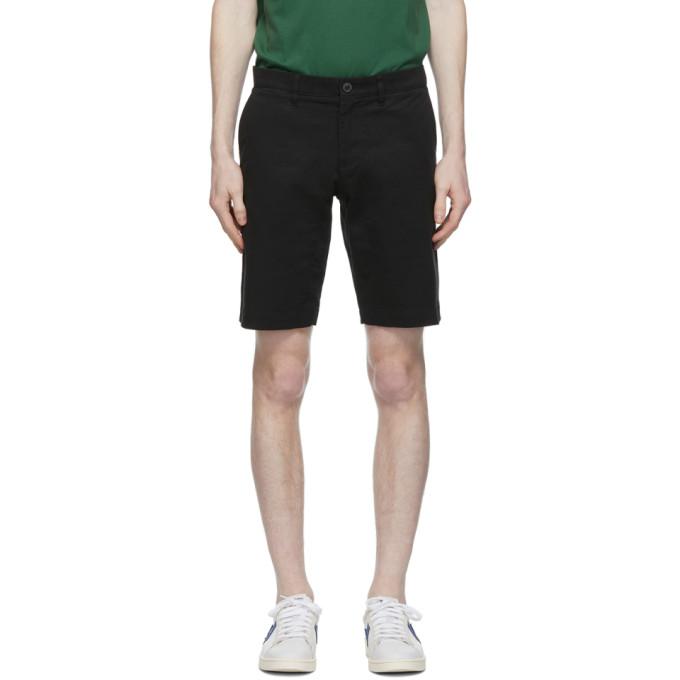 Lacoste Black Stretch Gabardine Slim Fit Shorts In 031 Black