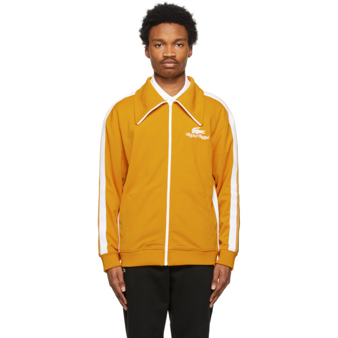 Lacoste LACOSTE YELLOW RICKY REGAL EDITION PIQUE CONTRAST BANDS TRACK JACKET